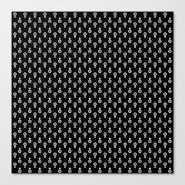 Uranus Noir Pattern Canvas Print