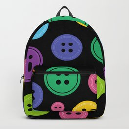 Colorful Rainbow Buttons Backpack