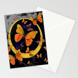 """SHABBY CHIC """"OFF THE WALL"""" BUTTERFLIES &  BLACK  ART Stationery Cards"""