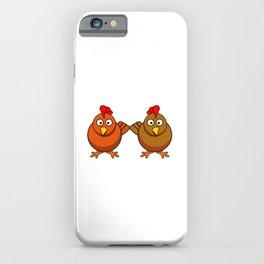 Daheim ist wo meine Hühner sind - Huhn Hahn Henne lustiges  iPhone Case
