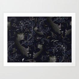 Navy blue. Deep sea blues Art Print