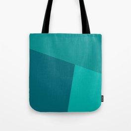dégradé trapèze turquoise Tote Bag