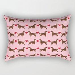 Irish Setter love heart cute pure breed irish setters gifts Rectangular Pillow