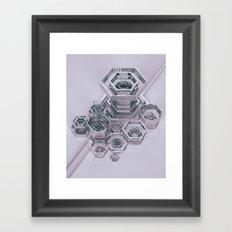 RECURSIVE.GEO (everyday 01.11.17) Framed Art Print