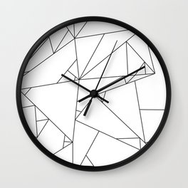 Abstract Origami Wall Clock