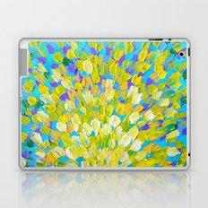 SPLASH 2 - Bright Bold Ocean Waves Beach Ripple Turquoise Aqua Lime Lemon Colorful Rainbow Wow Laptop & iPad Skin