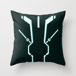 Blue Tronic Throw Pillow