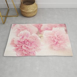 Pale Pink Carnations 2 Rug
