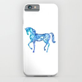Blue horse in my dreams iPhone Case