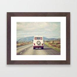 Road Trip - Iceland Landscape, Travel Photography Framed Art Print