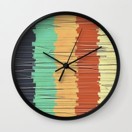 Shreds of Color Wall Clock