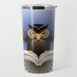 Brown Owl fly with the book Travel Mug