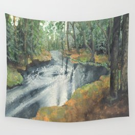Watercolor Vortex Wall Tapestry
