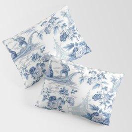 Powder Blue Chinoiserie Toile Pillow Sham