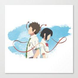Your Name Minimalist (Taki and Mitsuha) Canvas Print