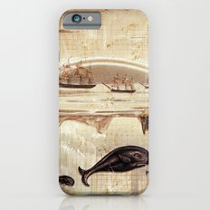 paper II :: whales/ships (red) iPhone 6s Slim Case