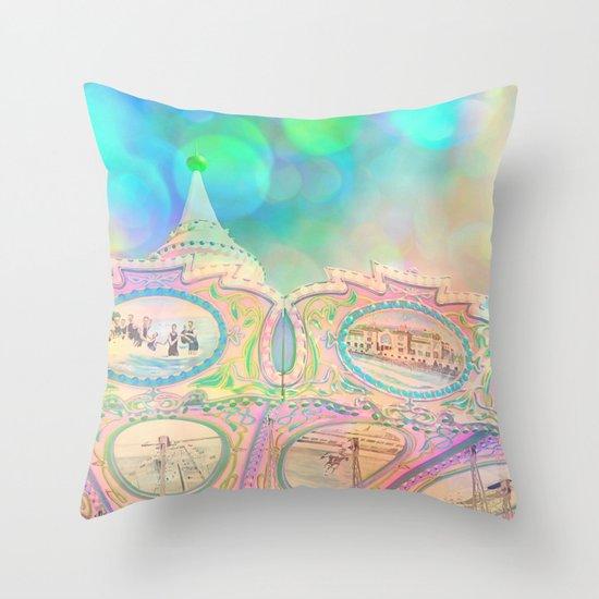 Cotton Candy Dreams Throw Pillow