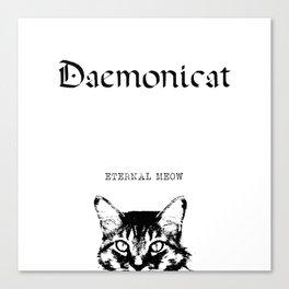 CAT METAL : Daemonicat - Eternal Meow Canvas Print