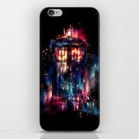 lights iPhone & iPod Skins featuring All of Time and Space by Alice X. Zhang
