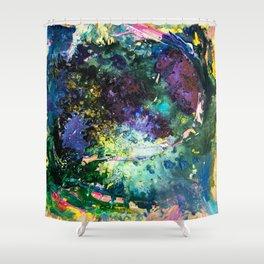 Malachite Cosmos Shower Curtain