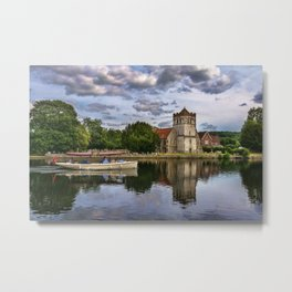 Boating At Bisham Metal Print