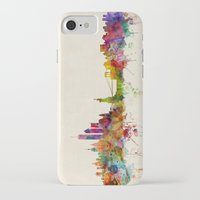 new york skyline iPhone & iPod Cases featuring New York City Skyline by artPause