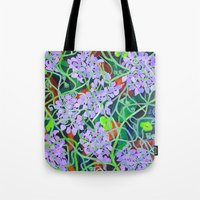 tangled Tote Bags featuring Tangled by marlene holdsworth