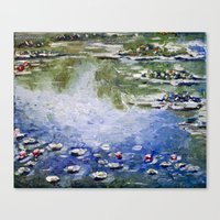 monet Canvas Prints featuring Missing Monet by Olya Krasavina