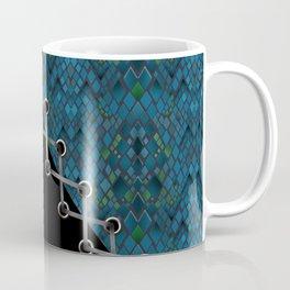 Lacing . 2 . Blue and black . Coffee Mug