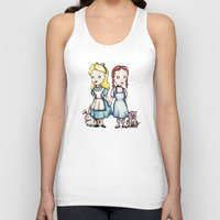 dorothy Tank Tops featuring Alice & Dorothy by Ludwig Van Bacon