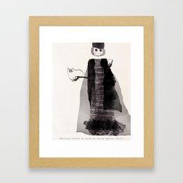 Spooky Skinny Framed Art Print