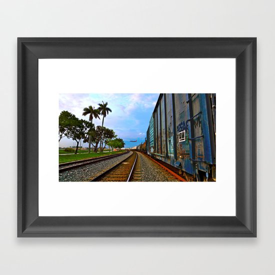 Planes, Trains, but no Automoblies Framed Art Print