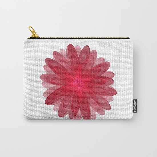 Red Flower Bloom Fractal Carry-All Pouch