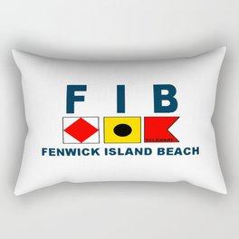 Fenwick Island - Delaware. Rectangular Pillow