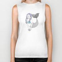 mermaids Biker Tanks featuring mermaids by Wee Jock