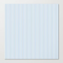 Airy Blue Stripes Canvas Print