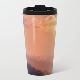 Sunset Over the Woods Travel Mug