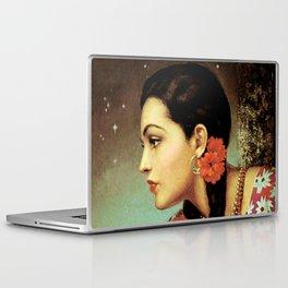 Mexican Calendar Girl in Profile by Jesus Helguera Laptop & iPad Skin