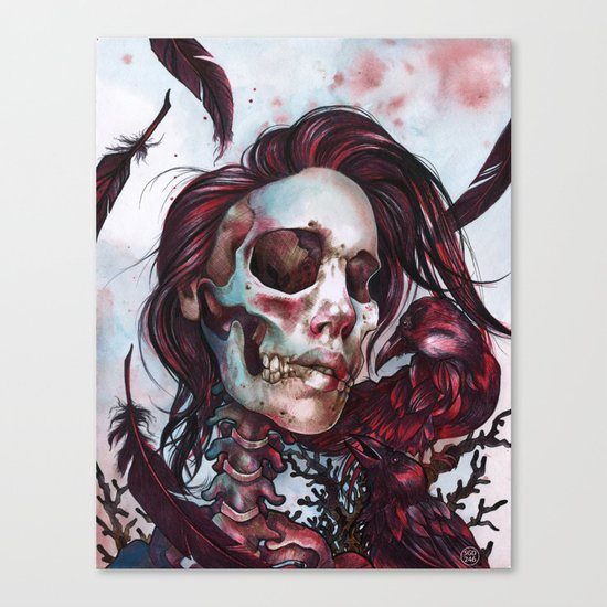 Queen of Ravens Canvas Print