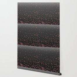 Cherry Blossom Rain Dark Wallpaper