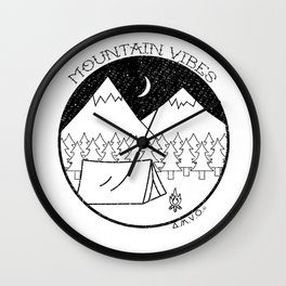 Mountain Vibes Wall Clock