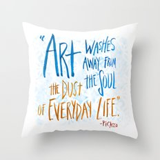 Picasso Quote Throw Pillow