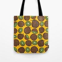 kiwi Tote Bags featuring Kiwi by Nemki