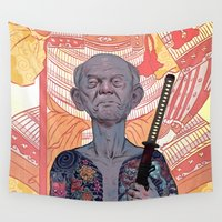 tattoos Wall Tapestries featuring Oyabun by Rudy Faber