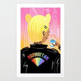 Manhattan Girl Art Print