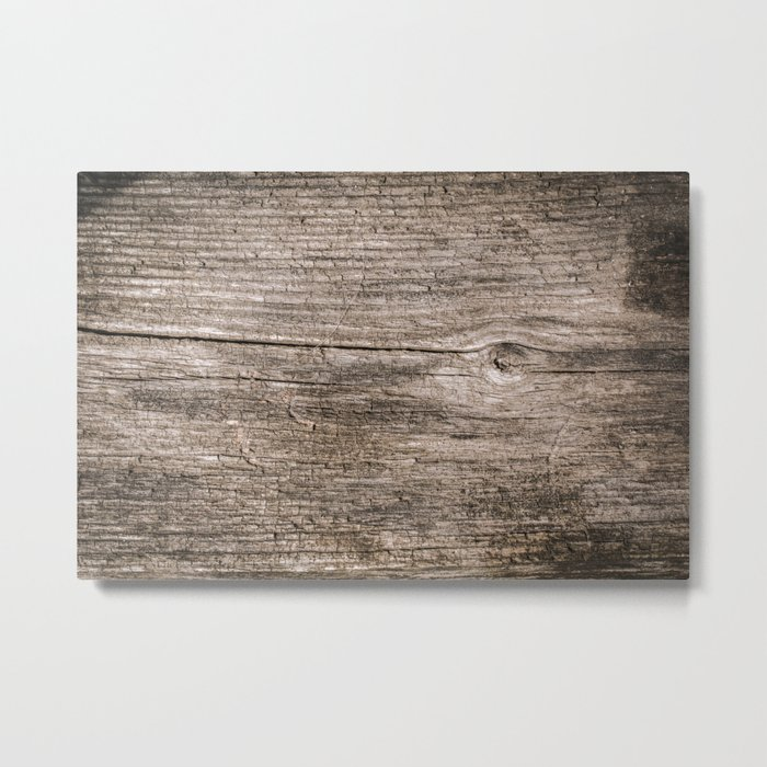 The old boards . Wood . Metal Print