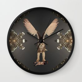 The Snowy Owl's Civic Duty Wall Clock