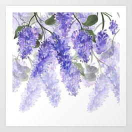 Purple Wisteria Flowers Kunstdrucke