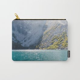 Sparkling Blue Water Alpine Lake Carry-All Pouch