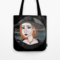 ginger Tote Bags featuring Ginger by Julia Kolos